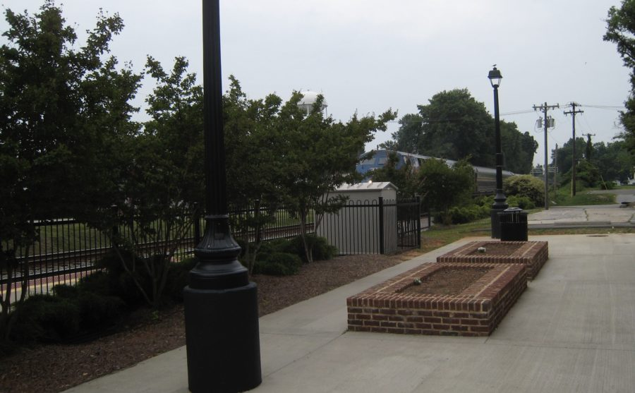 The Carolinian approaches the Kannapolis, NC Amtrak Station, May 28, 2009