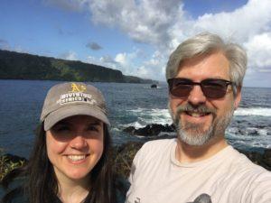 Jason and Dawn, Nov 2019, near Aunty Sandy's along the road to Hana, Maui, HI